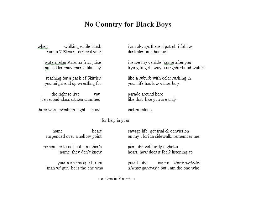 Affrilachian Poets 171 Black Space
